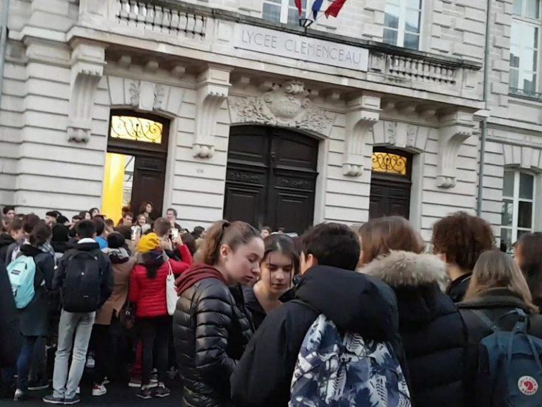 Nantes. Des lycéens ont bloqué le lycée Clemenceau vendredi matin
