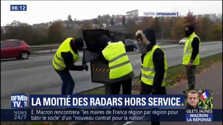 Gilets jaunes: la moitié des radars hors service depuis le début du mouvement [Vidéo]