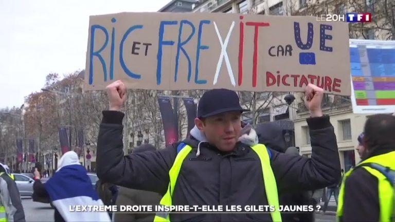 Gilets jaunes. Pour TF1, le RIC et le Frexit seraient…. des revendications d'Ultra Droite [Vidéo]