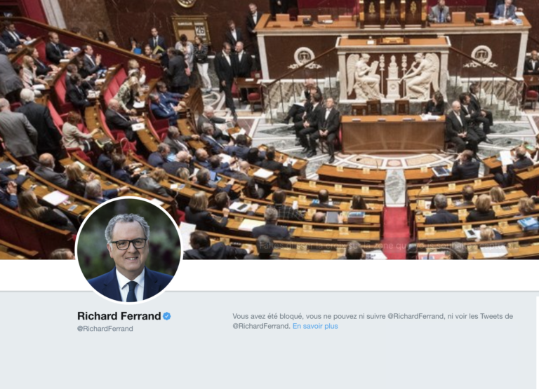 Plainte contre Richard Ferrand : le Président de l'Assemblée nationale bloque à tour de bras sur Twitter [Vidéo]