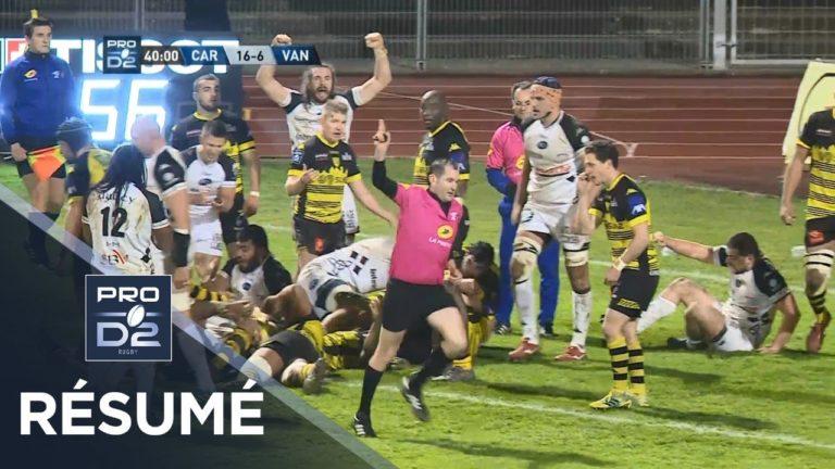 Rugby. Le RC Vannes devait l'emporte à Carcassonne (23-20) [Vidéo]