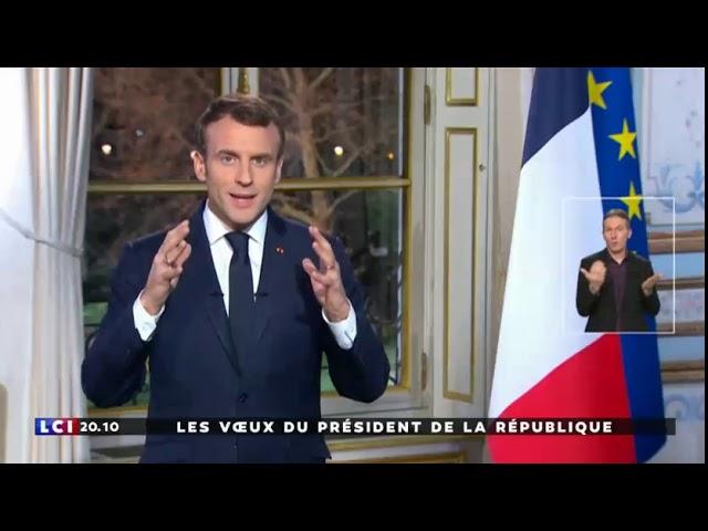 Les voeux d'Emmanuel Macron en vidéo