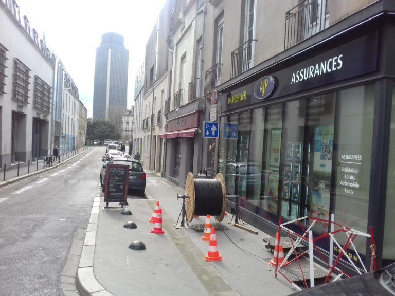 Nantes: Bouygues Telecom tire des kilomètres de fibre en ville
