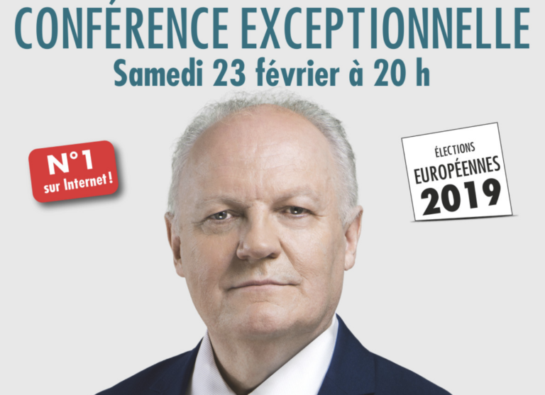 Élections européennes. François Asselineau (UPR) en conférence à Brest le 23 février