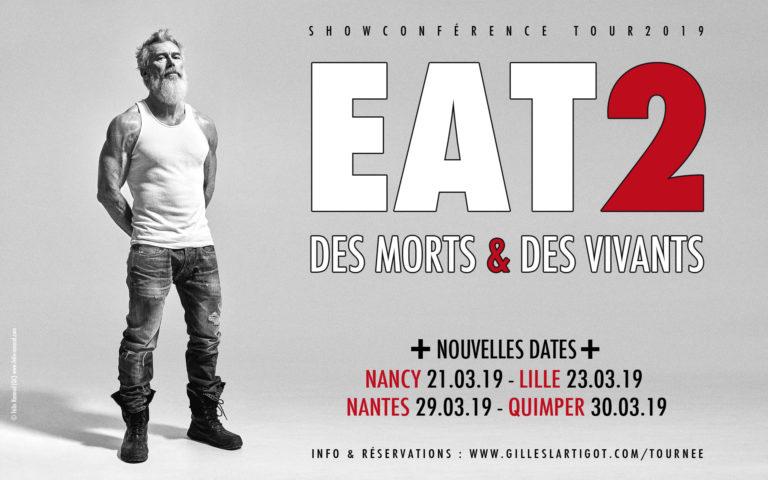 EAT2. Gilles Lartigot de retour fin mars en Bretagne, à Nantes et à Quimper