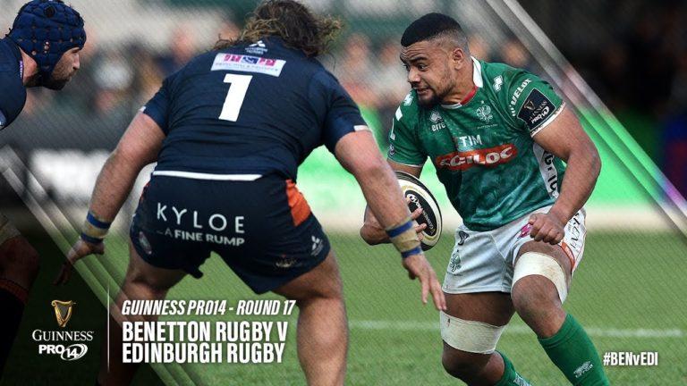 Pro 14 rugby, 17ème journée. Benetton Trévise continue de surprendre [Vidéo]