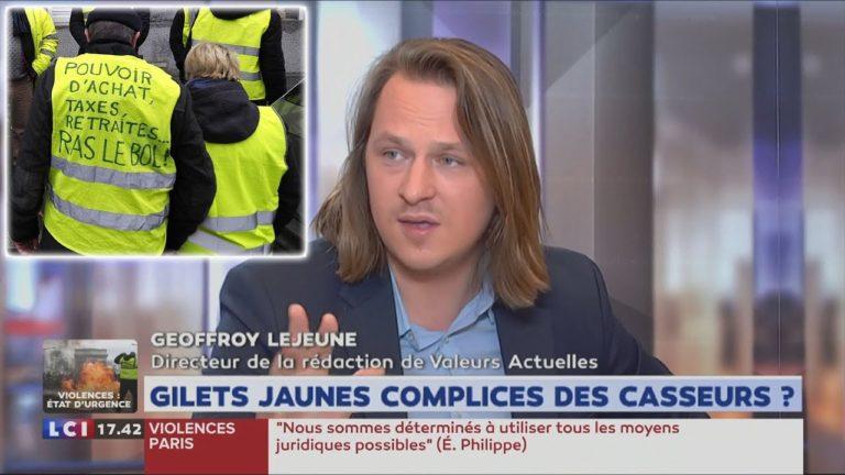 Geoffroy Lejeune : « Le mouvement des Gilets Jaunes ne s'arrêtera pas » [Vidéo]
