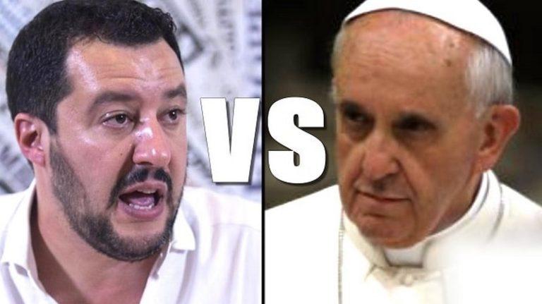 Matteo Salvini envoie le Pape François dans les cordes à propos de l'immigration