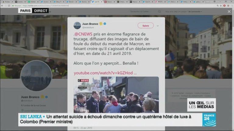 Mauvaises images d'un bain de foule de Macron : CNEWS « remercie » la journaliste [Vidéo]