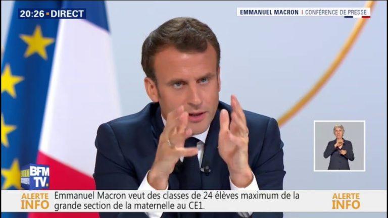 Regardez l'intégralité de l'intervention d'Emmanuel Macron face aux journalistes [Vidéo]