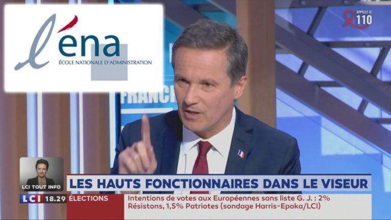 Nicolas Dupont-Aignan qualifie d'«apartheid» la discrimination positive à l'ENA qu'envisage Macron [Vidéo]