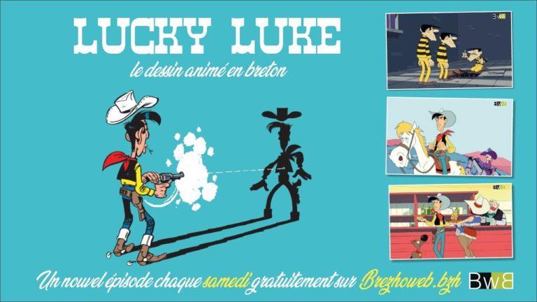 13 épisodes du dessin animé Lucky Luke doublés en breton [Vidéo]