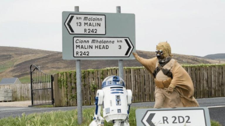 Irlande. R2D2 (Star Wars) a désormais une route qui porte son nom
