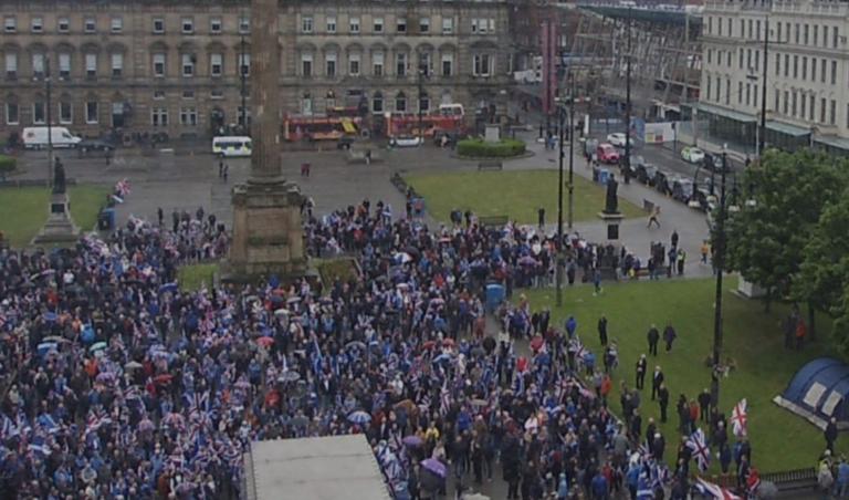 Glasgow. La marche pour l'union de l'Ecosse au Royaume-Uni fait un bide