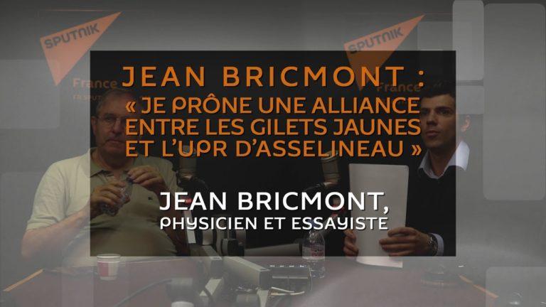 Jean Bricmont : « Je prône une alliance entre les Gilets jaunes et l'UPR d'Asselineau » [Vidéo]