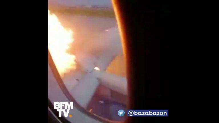 Moscou (Russie). Ils filment l'atterrissage de leur avion en feu [Vidéo]
