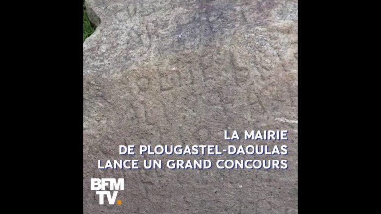 2000 euros offerts à celui qui percera le mystère de la pierre de Plougastel [Vidéo]