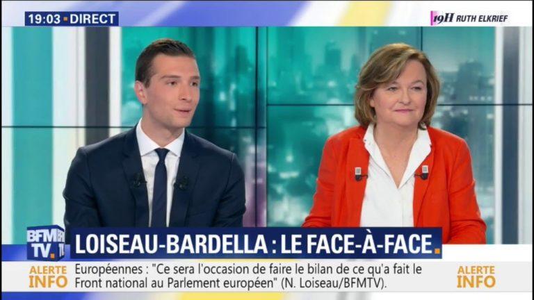 Débat politique. Jordan Bardella (Rassemblement national) atomise Nathalie Loiseau (LREM)