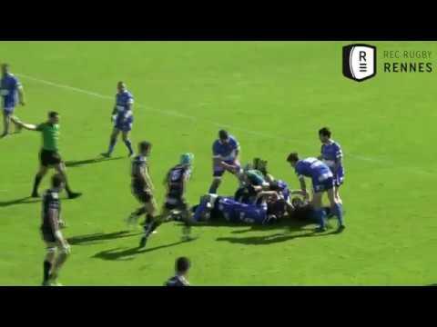 Fédérale 1. Le Rec Rugby Rennes s'incline aux tirs aux buts contre Anglet [Vidéo]