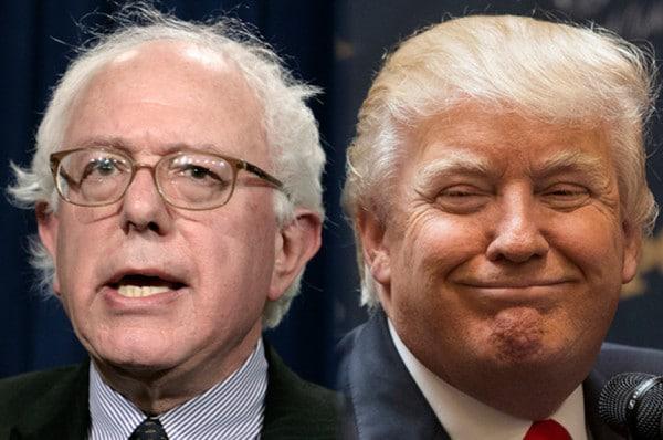 Etats-Unis: Trump face à Sanders, troll conservateur contre progressiste démago