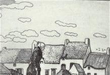 La route de Guérande. 1911. eau-forte sur zinc.