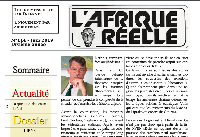 L'Afrique réelle n°114. L'ethnie, rempart face au jihadisme ?