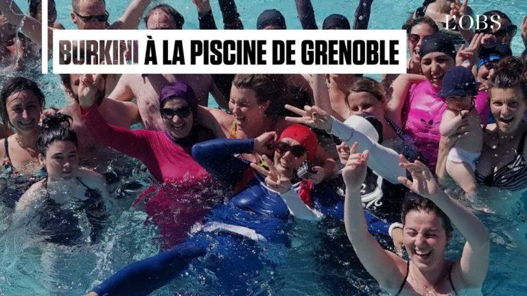 Des militantes en burkini s'introduisent dans une piscine de Grenoble [Vidéo]