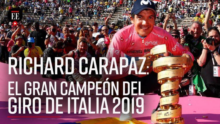 Cyclisme. Richard Carapaz (Movistar) remporte le Giro 2019