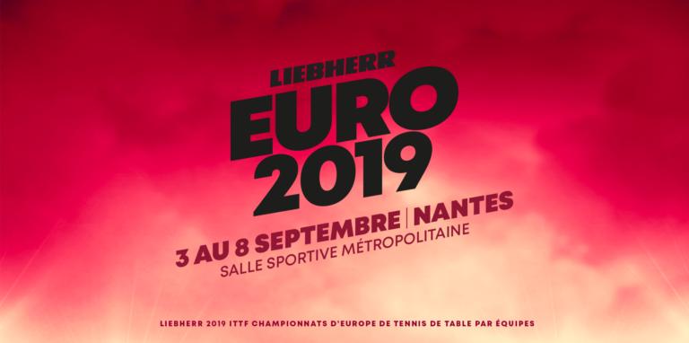 Nantes accueillera les Championnats d'Europe par équipes de tennis de table du 3 au 8 septembre
