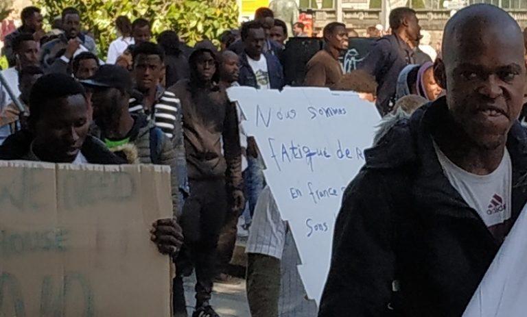Nantes: manif nocturne des migrants, les riverains du centre-ville s'énervent
