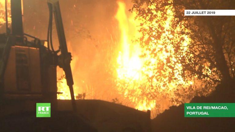 Portugal : les pompiers face à de graves incendies de forêt [Vidéo]