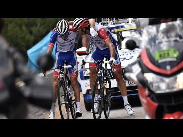 Tour de France : les images de l'abandon de Thibaut Pinot dès le début de la 19e étape [Vidéo]