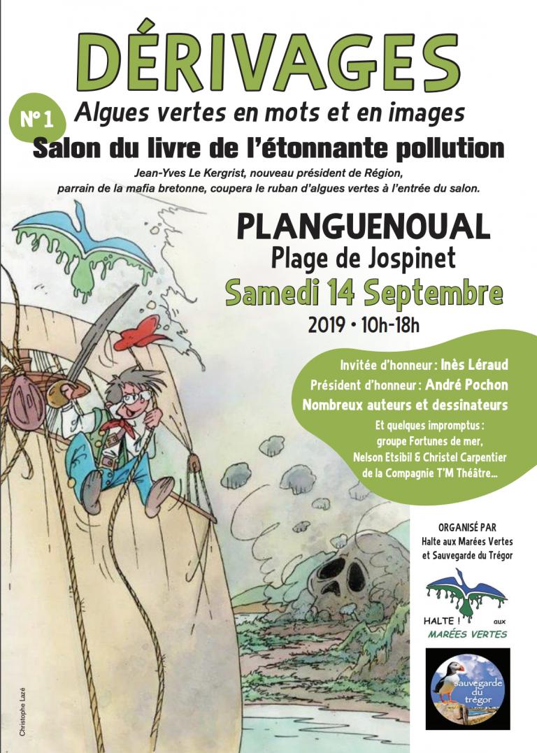 Planguenoual (22). Dérivages, Un salon du livre spécial « Algues vertes », le 14 septembre