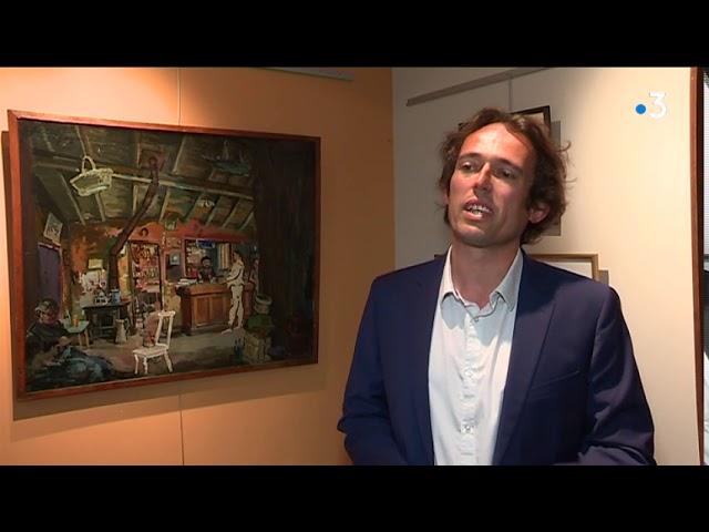 Exposition des oeuvres d'Auguste Clergé et Colette Chasseigneux entre Montparnasse et Quimper [Vidéo]