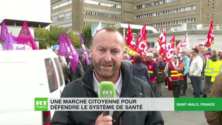 A Saint-Malo, une marche citoyenne pour défendre le système de santé [Vidéo]