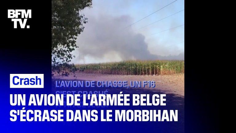 Un avion de chasse de l'armée belge s'est écrasé ce matin à Pluvigner dans le Morbihan [Vidéo]