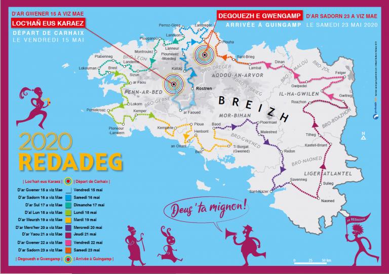 Redadeg. Faisant fi de la terreur sanitaire, la course pour la langue bretonne confirmée du 21 au 29 mai