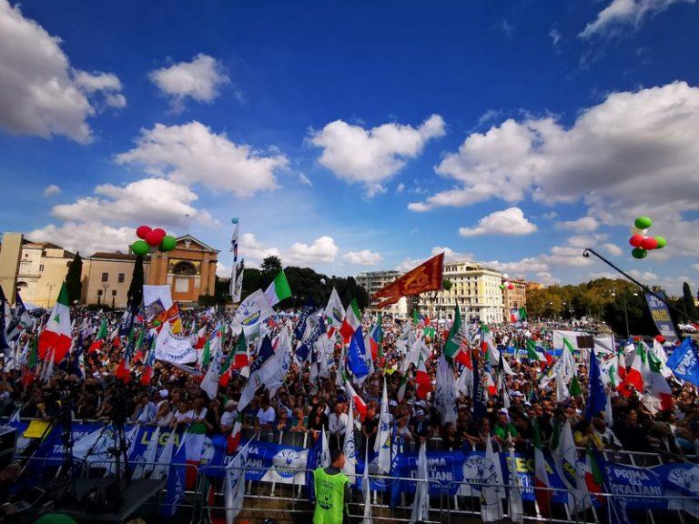 Rome. Vif succès de la manifestation de la droite