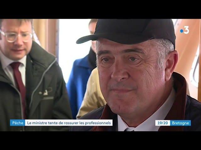 Brexit : à Lorient, le ministre de l'Agriculture tente de rassurer les marins-pêcheurs [Vidéo]