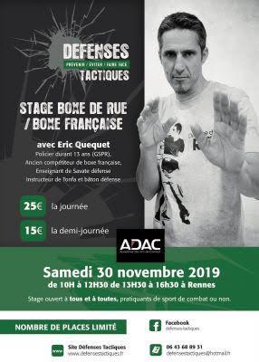Rennes. Un stage de boxe de rue, le 30 novembre, avec Eric Quequet