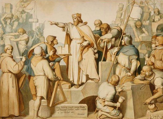 La Fondation d'une ville par Bendemann Eduard Julius Friedrich