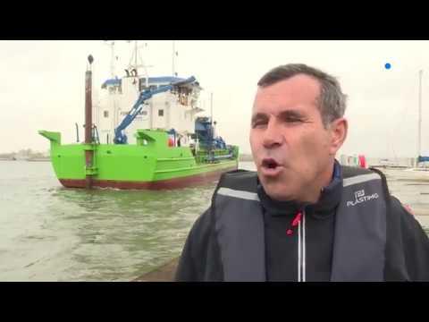 1,4 million de m3 de sédiments dragués en rade de Lorient