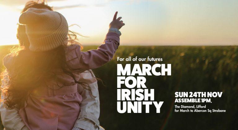 Strabane. Une marche pour la réunification de l'Irlande, le 24 novembre