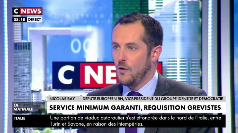 Nicolas Bay : « Les méthodes utilisées par les syndicats exaspèrent les Français » [Vidéo]