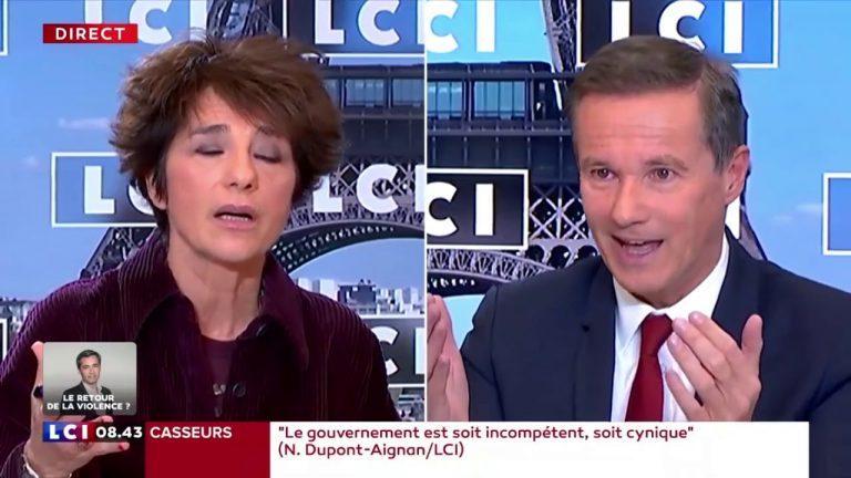Nicolas Dupont-Aignan recadre Élisabeth Martichoux qui est complètement partisane [Vidéo]