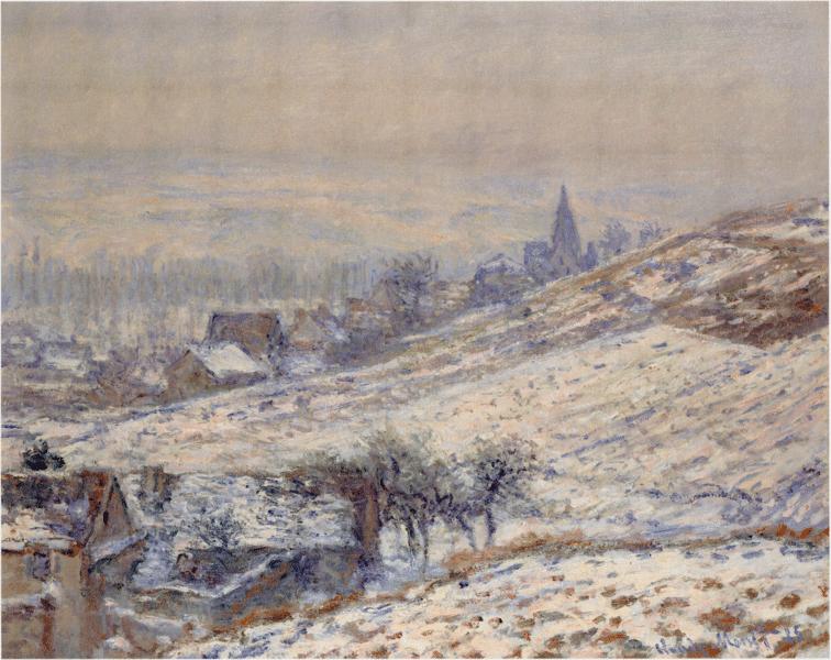 Hiver à Giverny, Claude Monet, 1885.