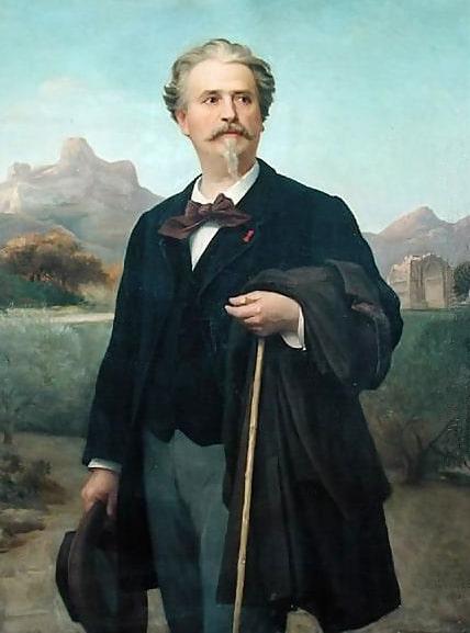 Frédéric Mistral en 1885 par Félix-Auguste Clément (1826-1888).