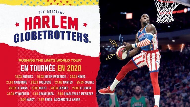 Les Harlem Globetrotters à Nantes, Brest et Cesson-Sévigné au printemps 2020