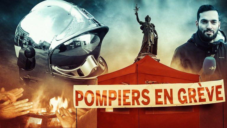 Les pompiers en colère campent à Paris [Vidéo]