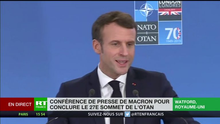 Réécouter la conférence de presse d'Emmanuel Macron à l'issue du sommet de l'OTAN [Vidéo]